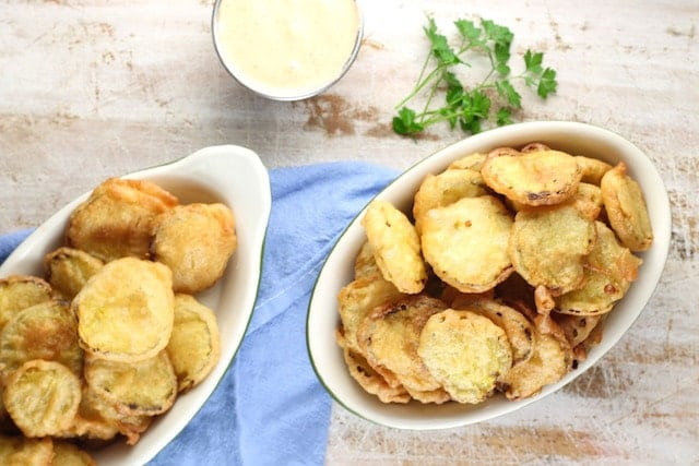 Recipe for Fried Pickles ~ MissintheKitchen.com