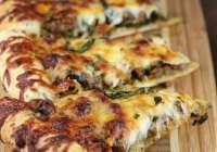 Sausage Mushroom Pesto Pizza
