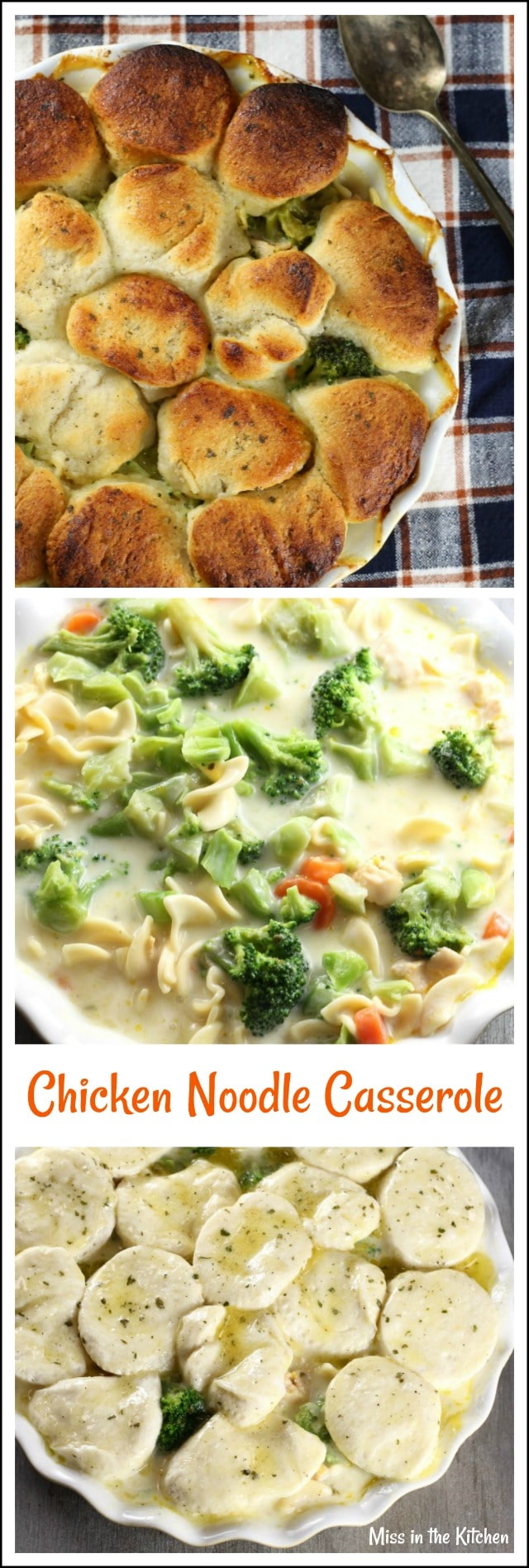 Chicken Noodle Casserole Recipe from MissintheKitchen.com #dinner #easydinner #ad