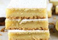 Lemony Lemon Bars from The Easy Homemade Cookie Cookbook ~ Recipe at MissintheKitchen.com