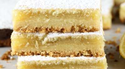 Lemony Lemon Bars from The Easy Homemade Cookie Cookbook ~ Recipe at MissintheKitchen.com