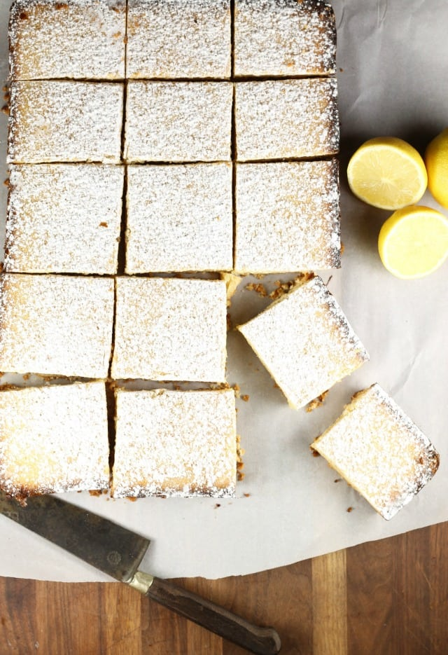 Lemony Lemon Bars Recipe from MissintheKitchen.com From The Easy Homemade Cookie Cookbook