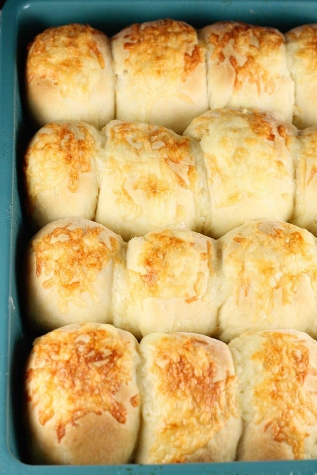 White Cheddar Potato Rolls Recipe ~ Great for holidays ~ Recipe from MissintheKitchen.com #ad @RedStarYeast