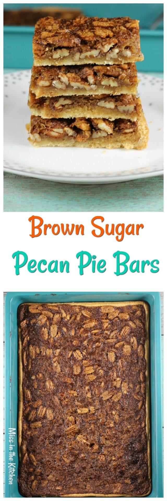Brown Sugar Pecan Pie Bars Recipe are the perfect holiday treat! #Sponsored @Pillsbury & @Walmart #holiday #pecan #pie #dessert