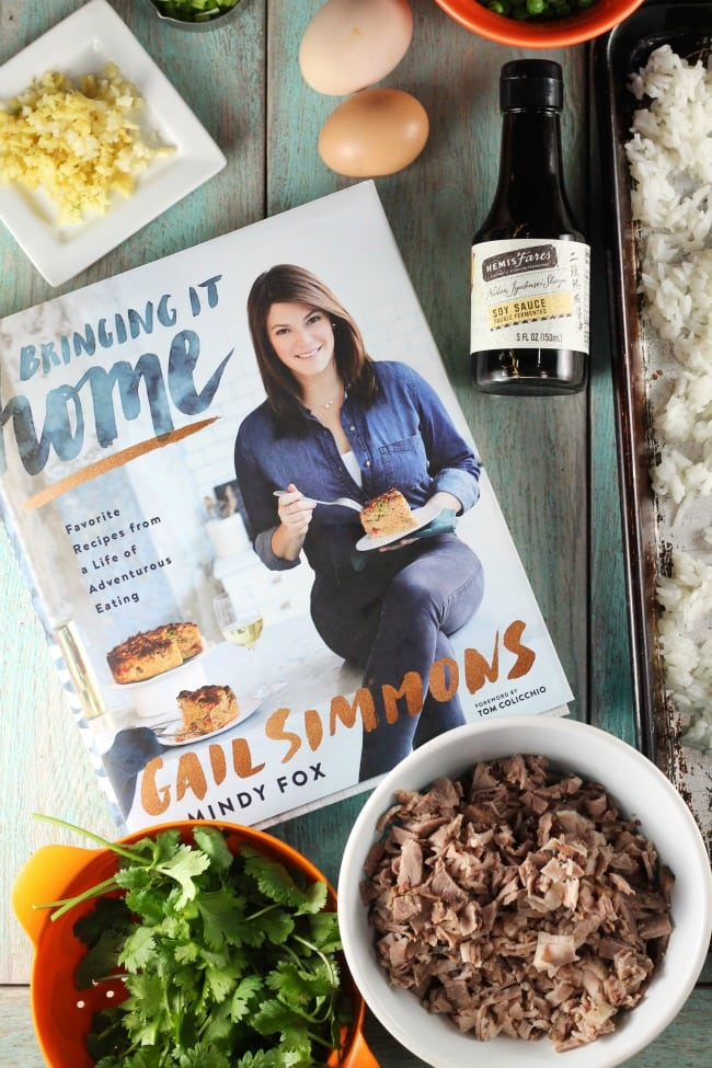 Christmas Brisket Fried Rice Recipe from Bringing it Home by Gale Simmons ~ MissintheKitchen.com