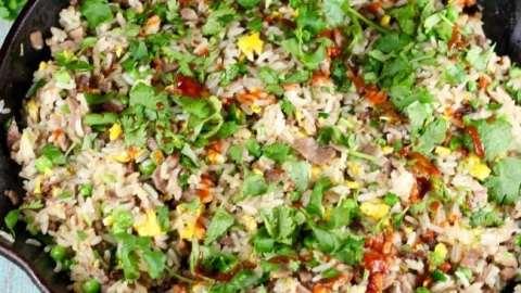 Christmas Brisket Fried Rice