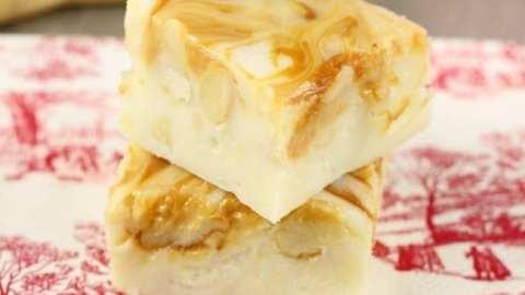 White Chocolate Caramel Macadamia Nut Fudge