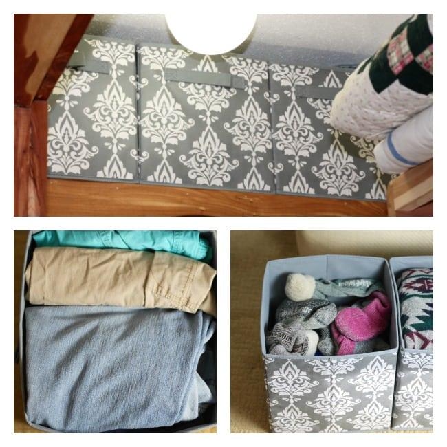 Damask Fabric Drawers ~ Cleaning Out My Closet ~ Closet Organizational Tips ~ MissintheKitchen.com