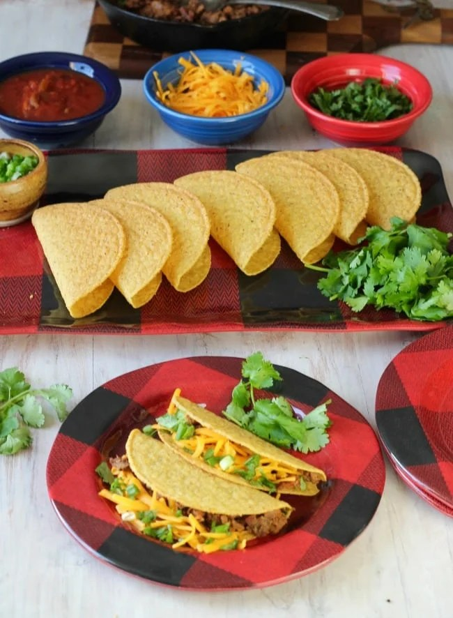 Brisket Tacos Recipe made with leftover smoked brisket for the most delicious taco night ever! From MissintheKitchen.com #recipe #brisket #beef #tacos