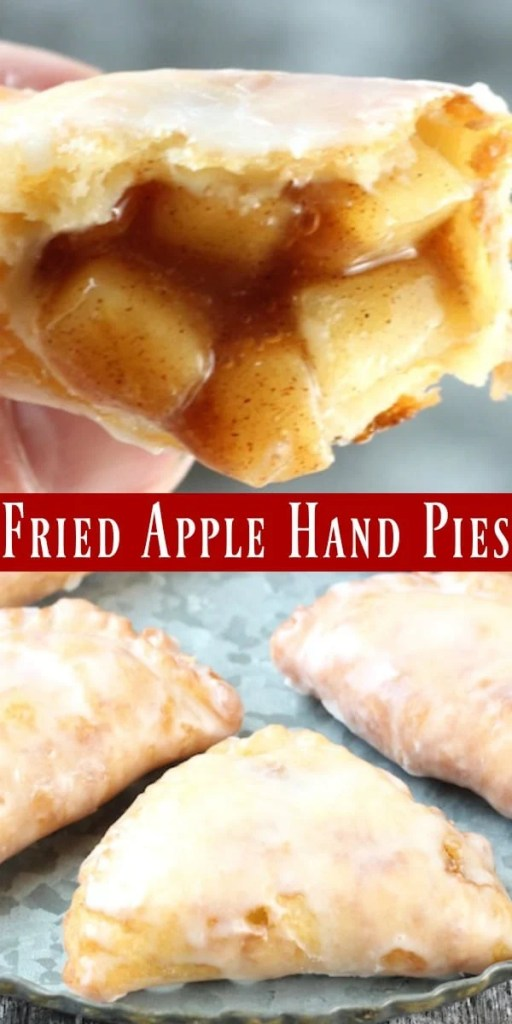 Fried Apple hand Pies photo collage