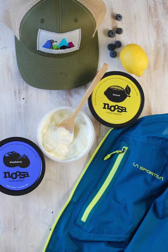 noosa yoghurt and la sportiva jacket for earth day