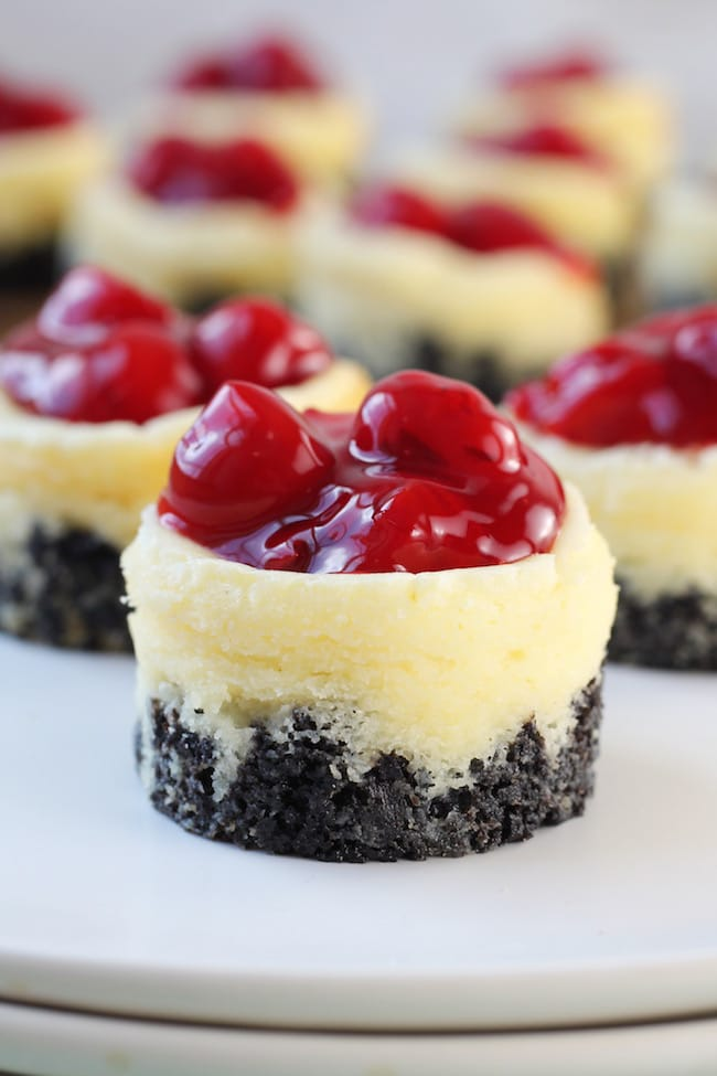 Mini Cherry Cheesecake Dessert