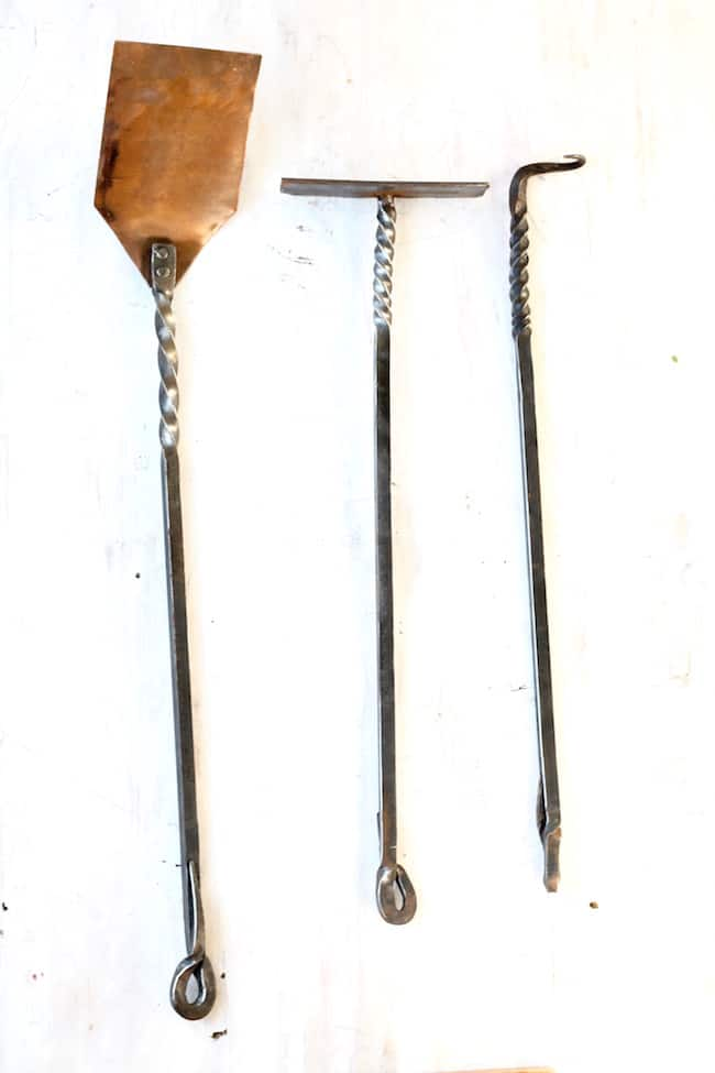Wrought Iron and Copper Grilling Tools from Red River Iron Etsy