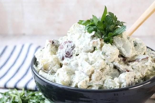 Potato salad with creamy dill dressing