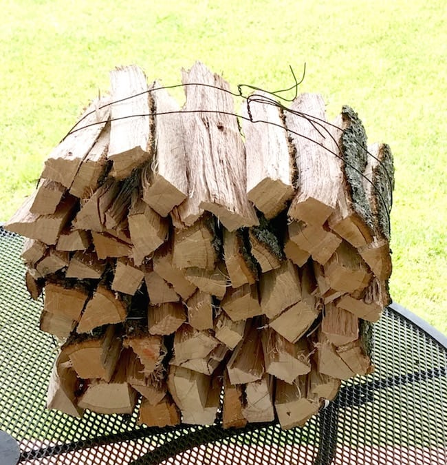 Oak and Hickory Logs Grilling Logs for wood fire grilling from Red River Iron Etsy