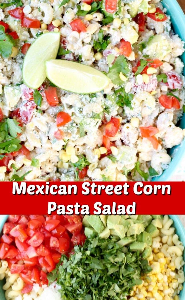 Tasty Mexican Street Corn Pasta Salad photo collage