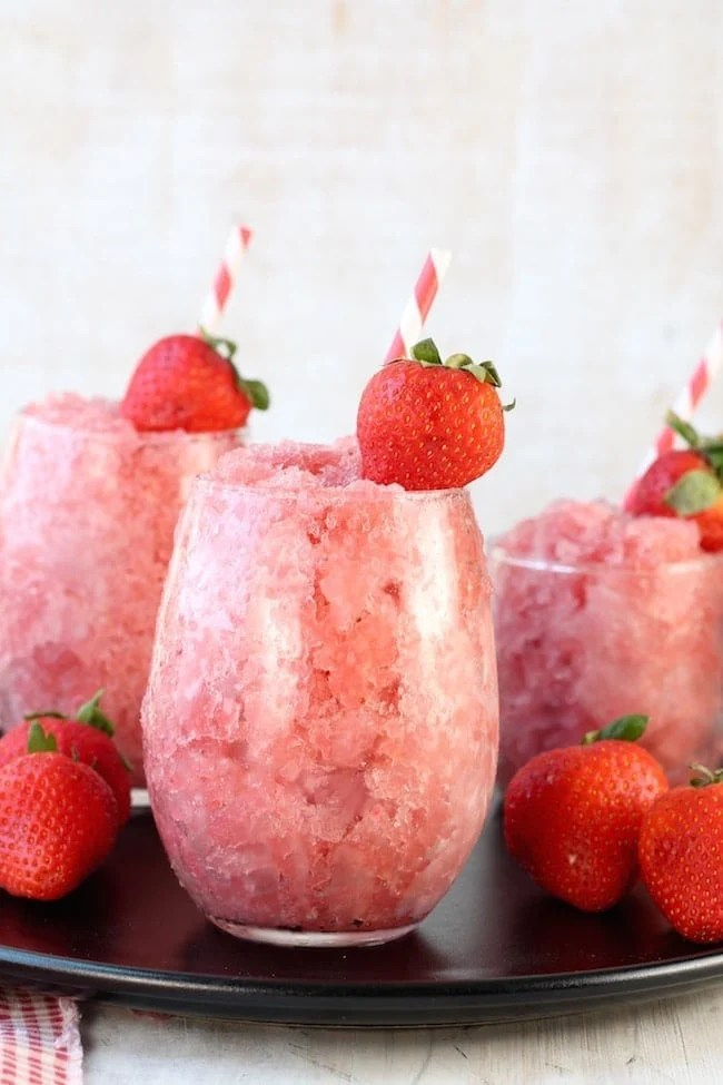 Strawberry Watermelon Frose Summer Party Cocktail