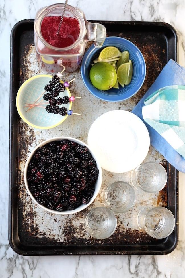 Ingredients for Easy Blackberry Margaritas