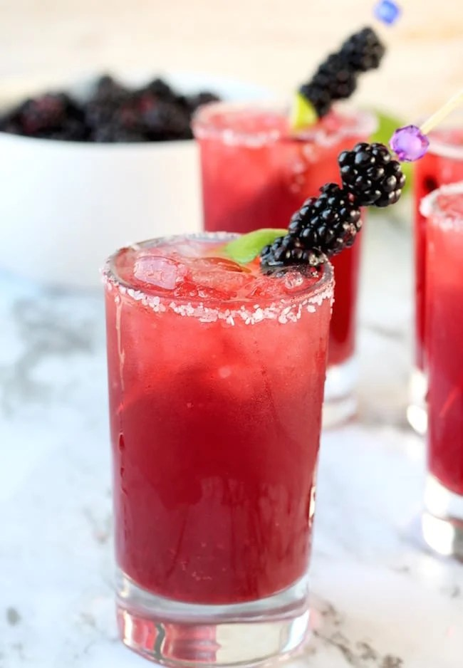 Easy Blackberry Margaritas Recipe
