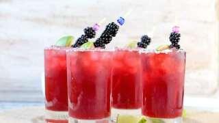 Easy Blackberry Margaritas
