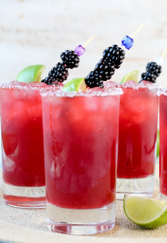 Easy Blackberry Margaritas Cocktail