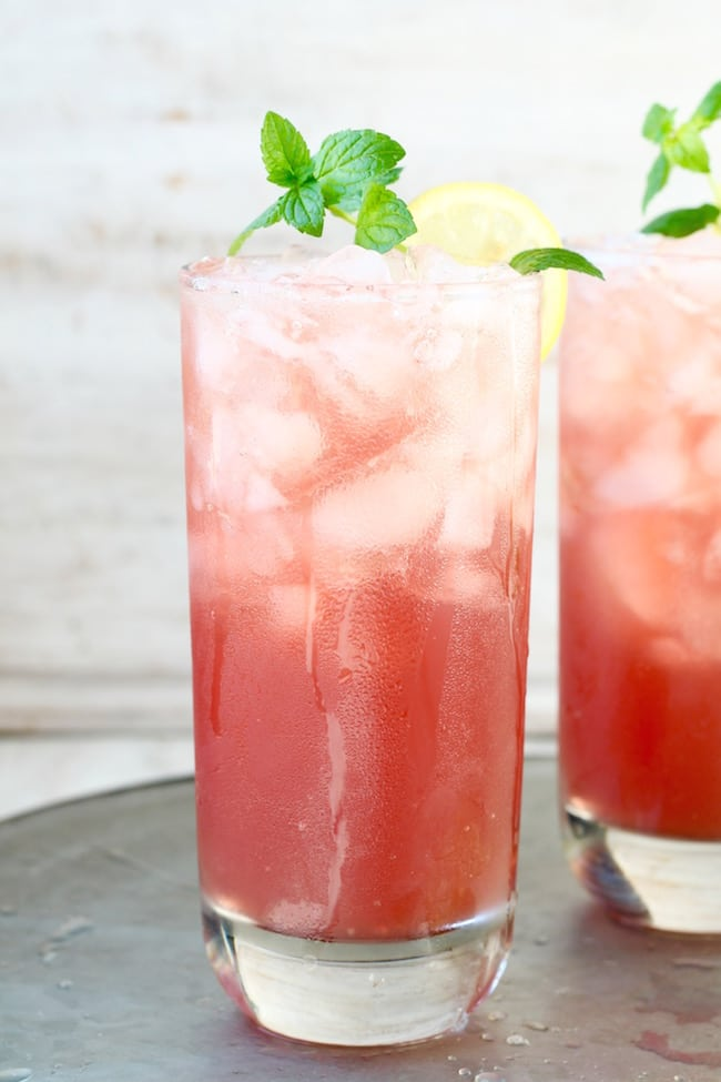 Pomegranate Lemonade easy drink recipe