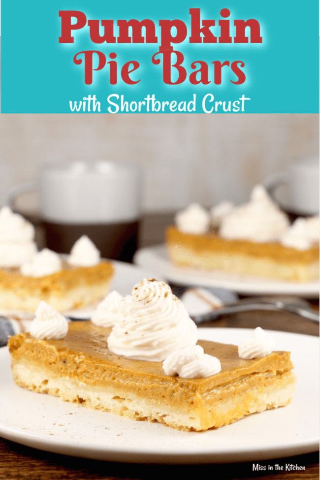 The Best Pumpkin Pie Bars with Shortbread Crust