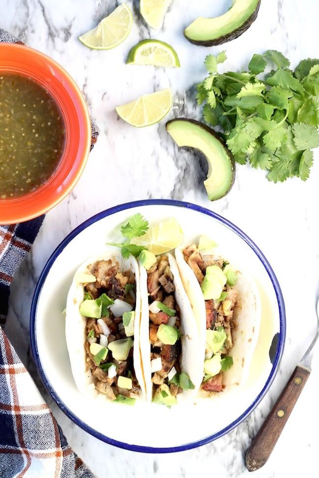 Smoked Pork Carnitas Tacos