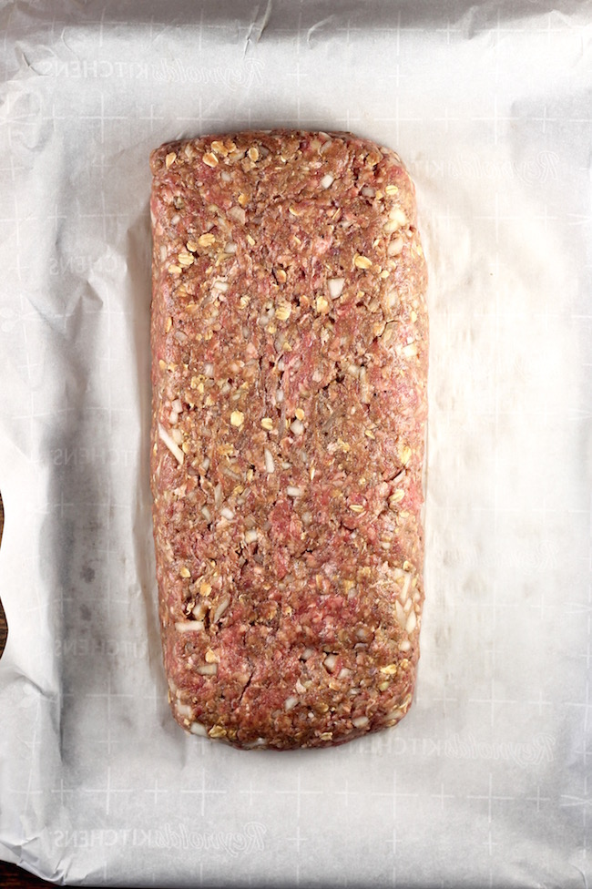 Classic Meatloaf with garlic and onions
