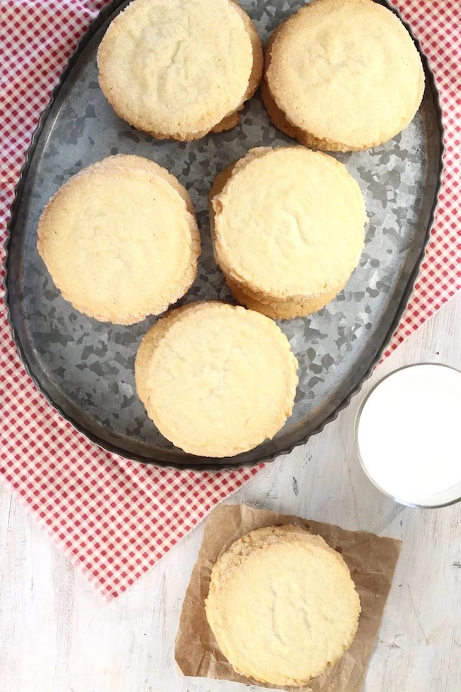 Best Ever Sugar Cookies with a glass of milk