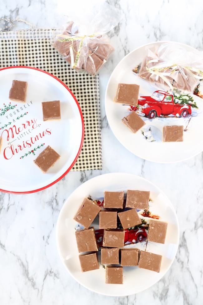Two Tone Fudge ~ Chocolate, Butterscotch and Walnuts