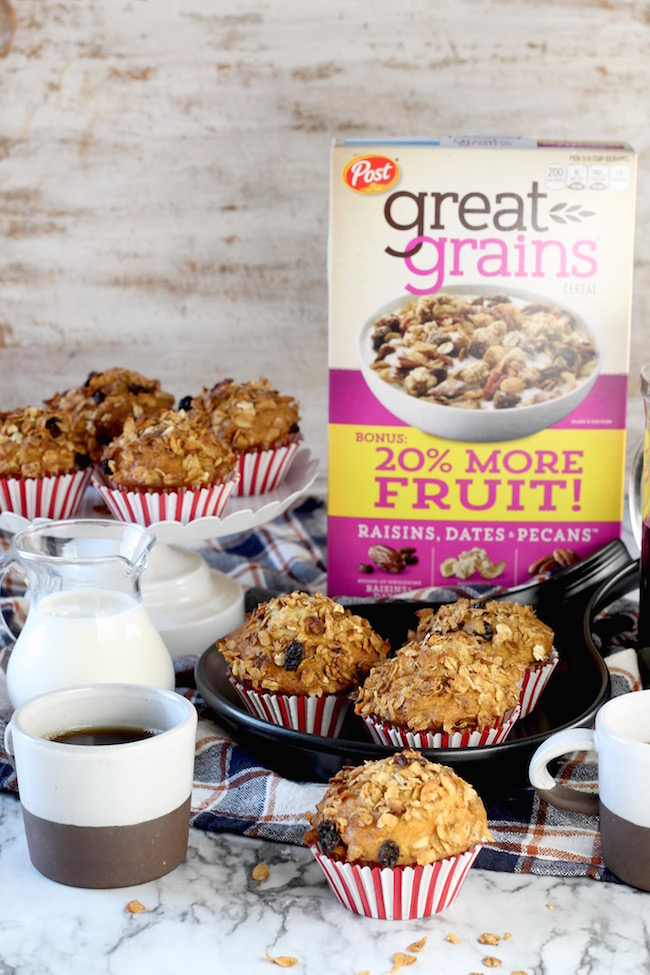 Delicious Breakfast Muffins with crunchy Great Grains Cereal