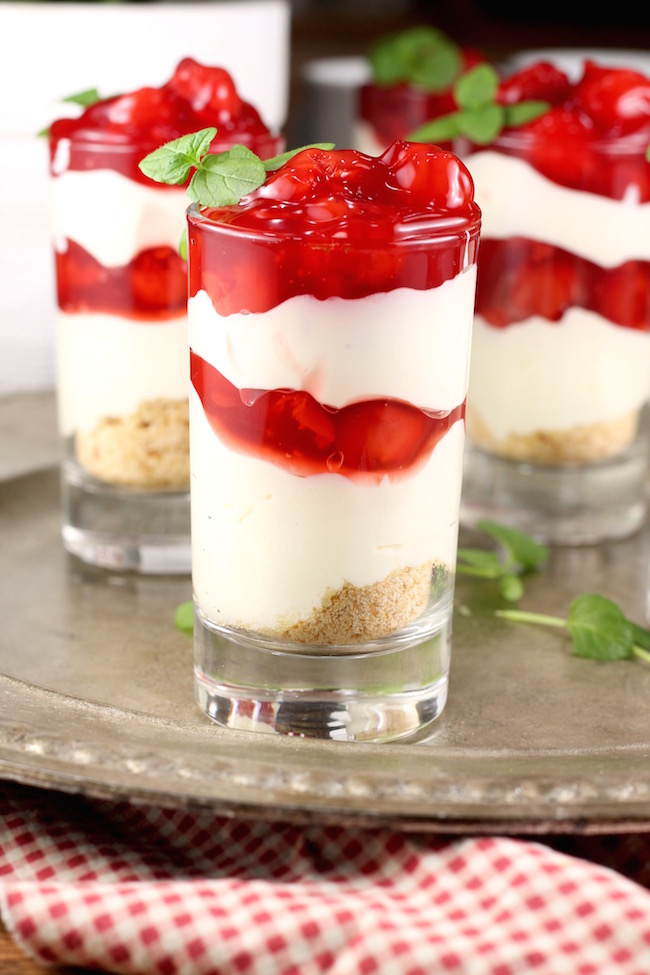 Cherry Cream Cheese Pie Shooters Holiday Dessert