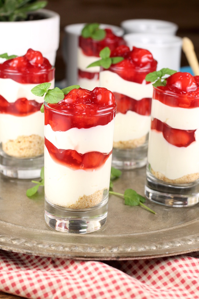 Cherry Cream Cheese Pie Shooters