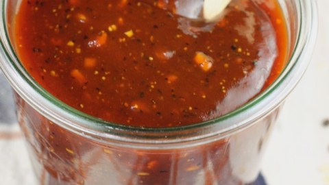 Homemade Barbecue Sauce ~ easy to store in a weck jar