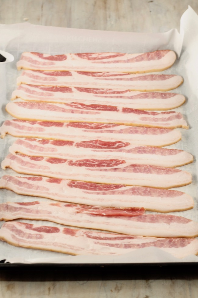 Thick sliced bacon for jalapeno barbecue bacon