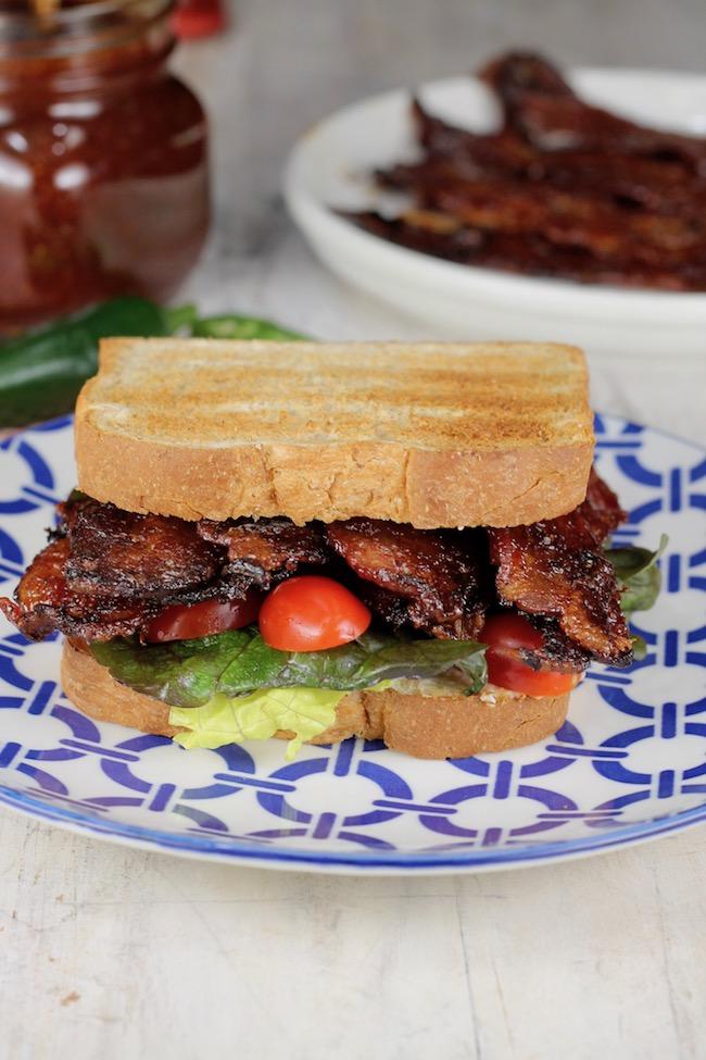 Jalapeno Barbecue Bacon ~ Best BLT Sandwich