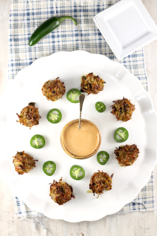 Spicy Hash Browns with roasted jalapenos