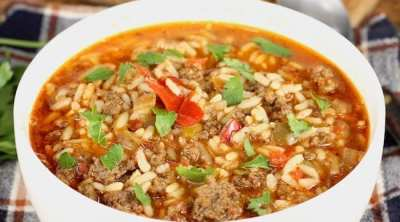 Easy Stuffed Pepper Soup Recipe