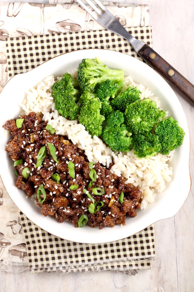 Korean Beef and Broccoli Stir Fry Bowl