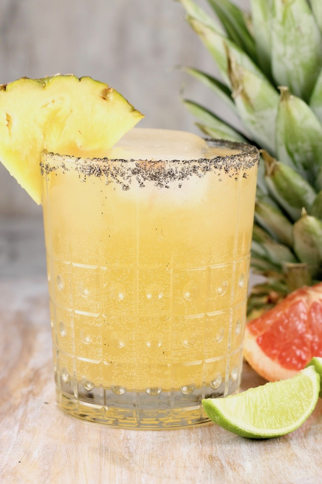 Pineapple Paloma Cocktail made with tequila, grapefruit, lime and pineapple soda