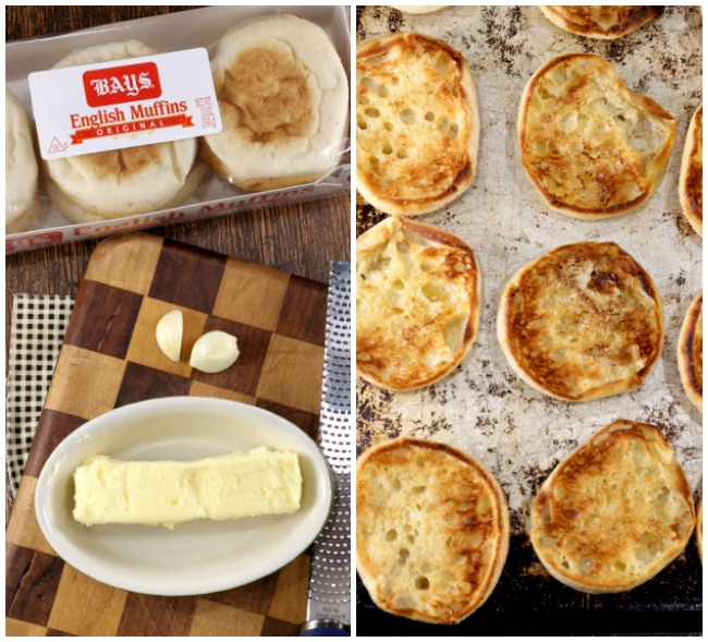 Bays English Muffins, Garlic Butter Toasted English Muffins