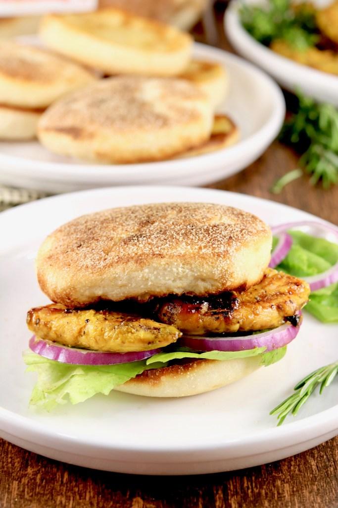 BBQ Mustard Chicken Tender Sandwiches