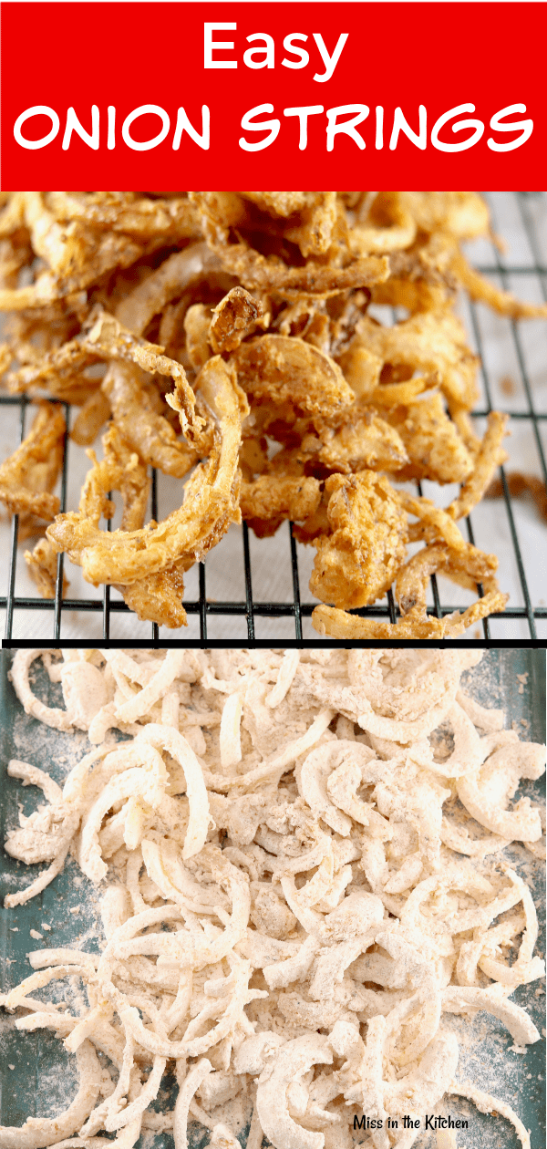Easy Onion Strings for burgers and sandwiches