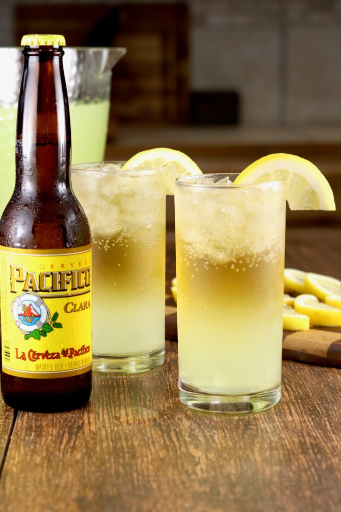 glasses of Lemon Shandy cocktails with Pacifico Beer