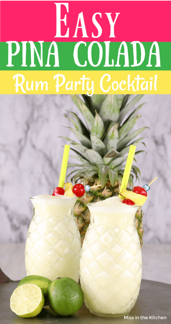Text overlay of Easy Pina Colada