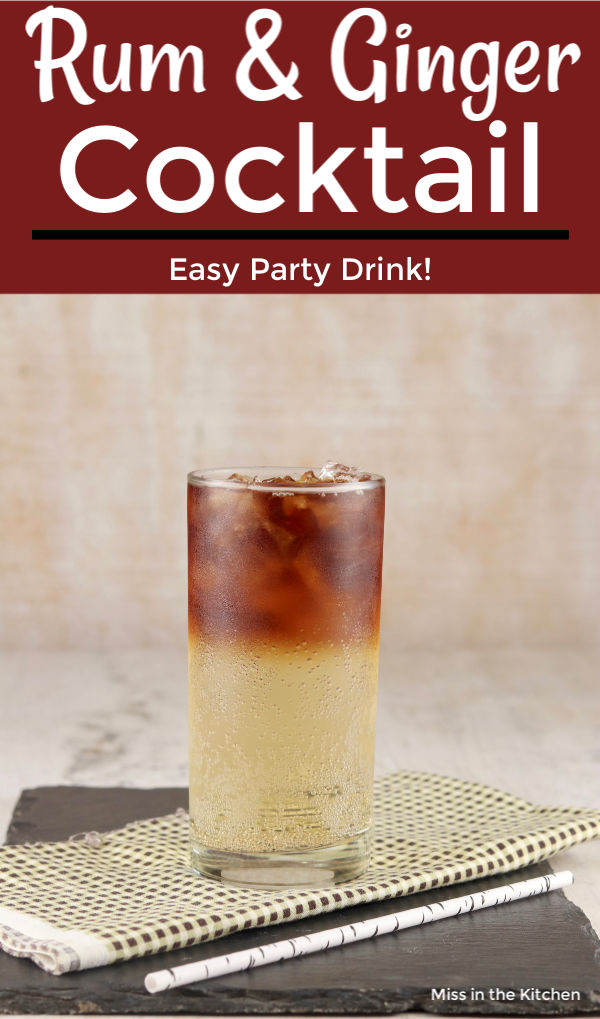 Rum and Ginger Ale party drink