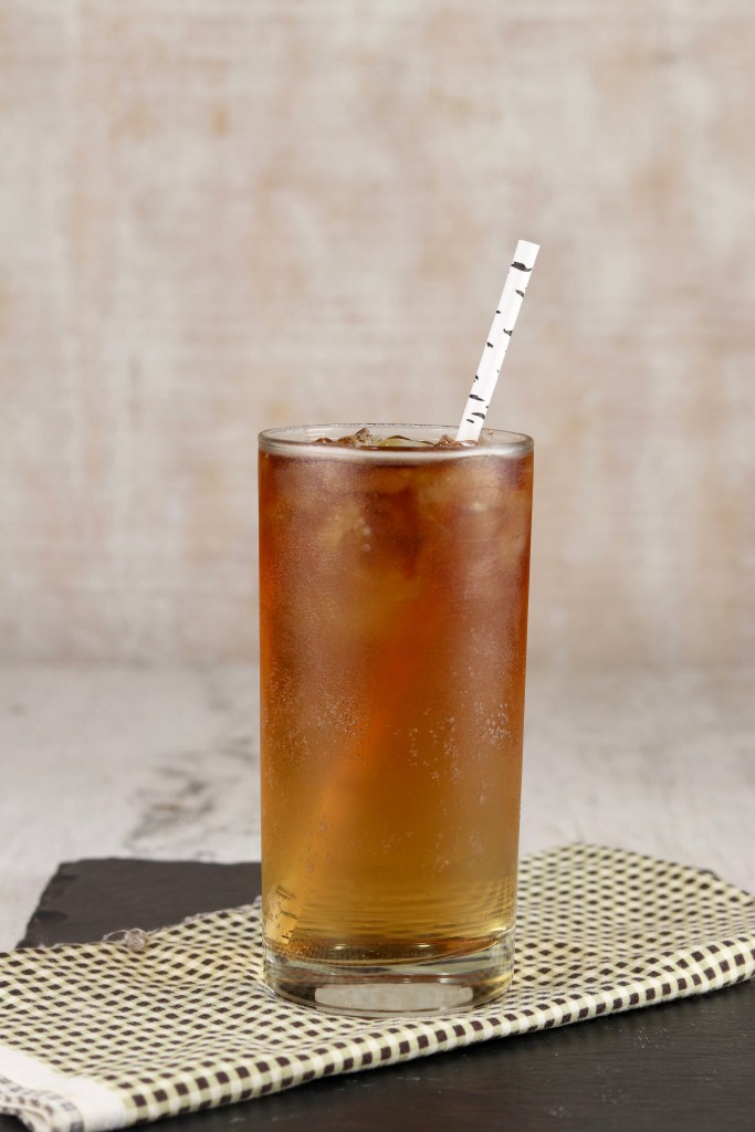 Dark Rum Cocktail with ginger ale