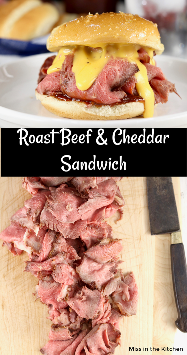 Collage sliced roast beef, roast beef sandwich