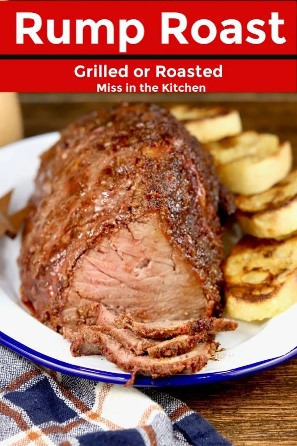 Sunday pot roast - grilled with beef rub